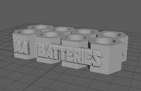 単三電池用スタンド(3Dデータ)
