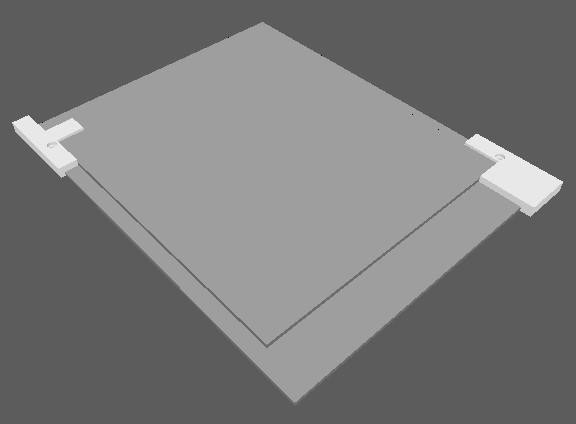 耐熱ガラス固定部品(モデル)
