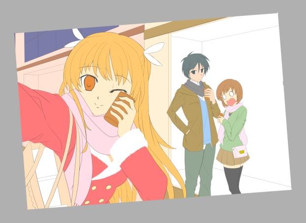 『お兄ちゃんのクリスマスデートをチェキ☆』(過程7)