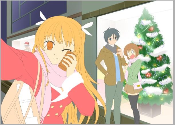 『お兄ちゃんのクリスマスデートをチェキ☆』(過程8)