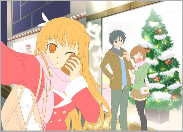 『お兄ちゃんのクリスマスデートをチェキ☆』(過程9)