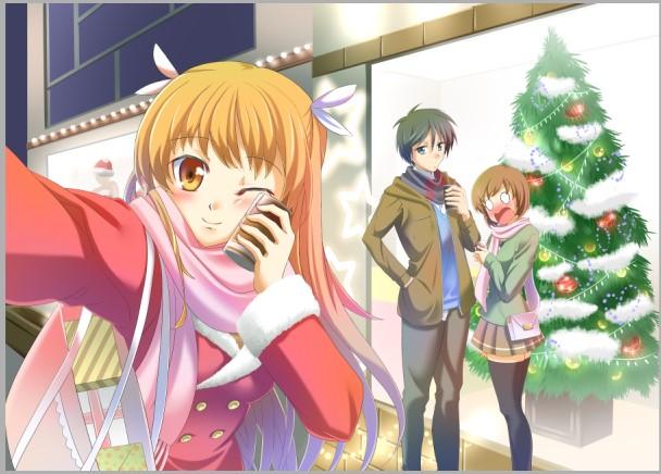 『お兄ちゃんのクリスマスデートをチェキ☆』(過程10)